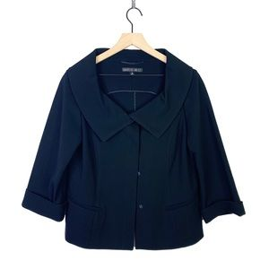 Lafayette 148 New York Black Button Blazer Jacket